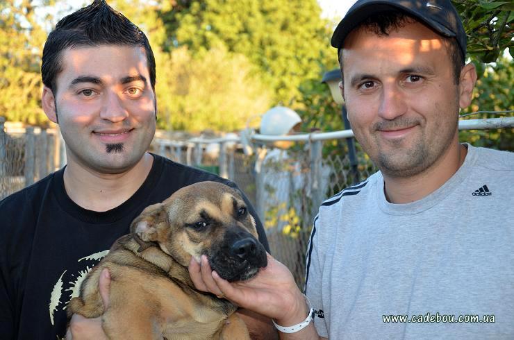 Gaspar, Roman & puppie Ca de Bou